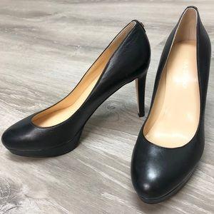 Ivanka Trump Kimo Black Leather Platform Pump